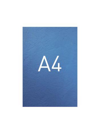 Okładka kartonowa o fakturze skóry - DocCover - 297 x 210 mm (A4) - 100 arkuszy - niebieski