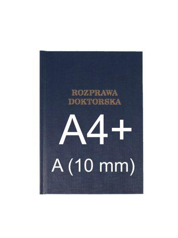"Okładka twarda z napisem - O.HARD Classic A (10 mm) 304 x 212 mm (A4+ pionowa) ""Rozprawa Doktorska"" - niebieski - 10 sztuk"