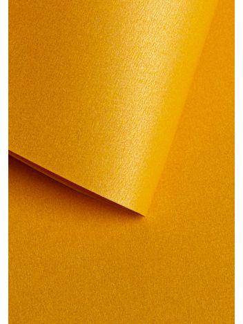 Wysokiej jakości papier ozdobny - O.Papiernia PERŁA - 250 g/m² - żółty - 20 sztuk
