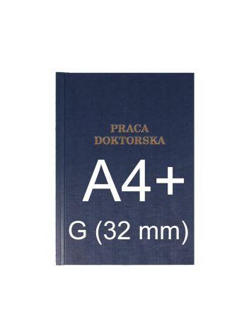 """Okładka twarda z napisem - O.HARD Classic G (32 mm) 304 x 212 mm (A4+ pionowa) """"Praca Doktorska"""" - niebieski - 10 sztuk"""