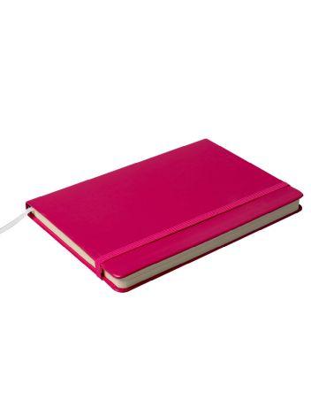 Notes Notatnik biurowy twardy w linię zamykany na gumkę - O.NOTE Berlin - 207 x 145 mm (A5) - różowy