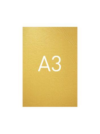 Okładka kartonowa o fakturze skóry - O.UNIVERSAL - 420 x 297 mm (A3) - 100 arkuszy - żółty