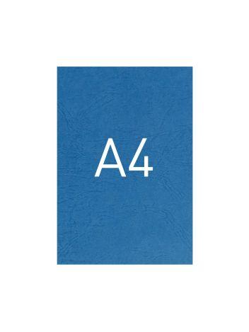 Okładka kartonowa o fakturze skóry - O.UNIVERSAL - 297 x 210 mm (A4) - 100 arkuszy - niebieski
