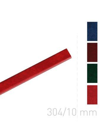 Kanał oklejany - O.CHANNEL Style 304 mm (A3+ poziomo, A4+ pionowo) - 10 mm - czerwony - 10 sztuk