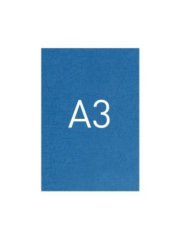 Okładka kartonowa o fakturze skóry - O.UNIVERSAL - 420 x 297 mm (A3) - 100 arkuszy - niebieski