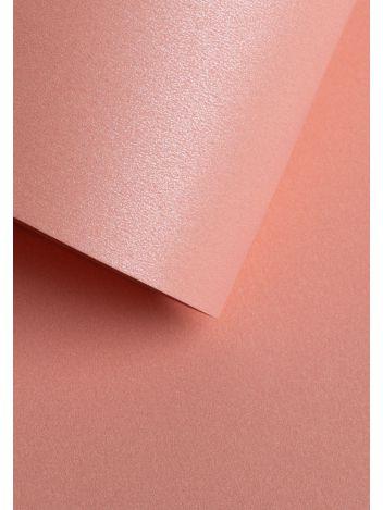 Wysokiej jakości papier ozdobny - O.Papiernia PERŁA - 250 g/m² - różowy - 20 sztuk