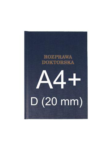 "Okładka twarda z napisem - O.HARD Classic D (20 mm) 304 x 212 mm (A4+ pionowa) ""Rozprawa Doktorska"" - niebieski - 10 sztuk"