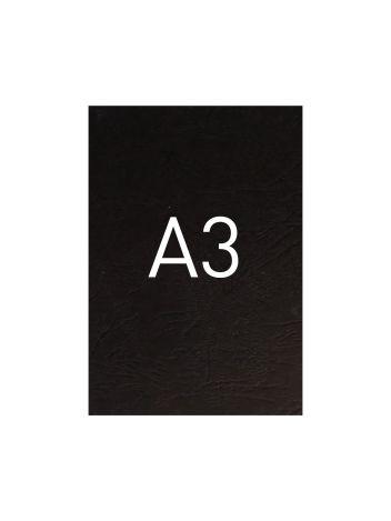 Okładka kartonowa o fakturze skóry - O.UNIVERSAL - 420 x 297 mm (A3) - 100 arkuszy - czarny
