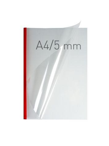 O.EASY COVER Double Clear - (5 mm) - 297 x 210 mm (A4 pionowa) - czerwony - 40 sztuk