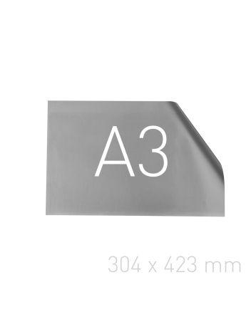 Papier posrebrzany - O.pouchCOVER PAPER 304 x 423 mm (A3 orientacja pozioma) - srebrny - 25 sztuk