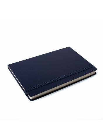 Notes Notatnik biurowy twardy w linię zamykany na gumkę - O.NOTE Berlin - 207 x 145 mm (A5) - niebieski