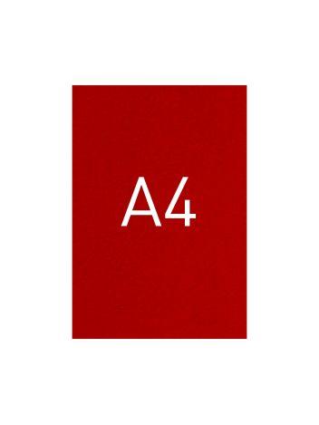 Okładka kartonowa o fakturze skóry - O.UNIVERSAL - 297 x 210 mm (A4) - 100 arkuszy - czerwony