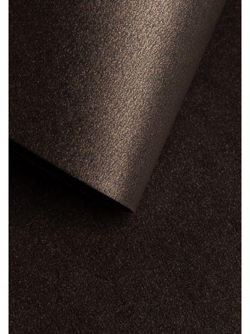 Wysokiej jakości papier ozdobny - O.Papiernia PERŁA - 250 g/m² - kawowy - 20 sztuk