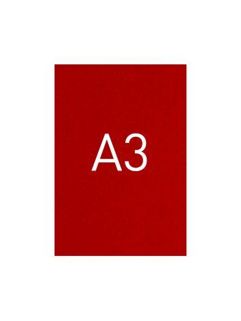 Okładka kartonowa o fakturze skóry - O.UNIVERSAL - 420 x 297 mm (A3) - 100 arkuszy - czerwony