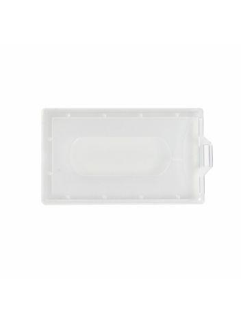 Identyfikator plastikowy twardy pionowy na karty plastikowe - O.BADGE HOLDER Vertical -  90 x 55 mm - 50 szt.