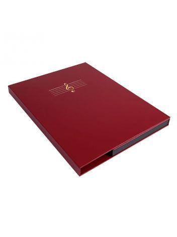 Teczki na nuty - O.Music Box - Premium - 320 x 235 mm - bordowy - 10 sztuk