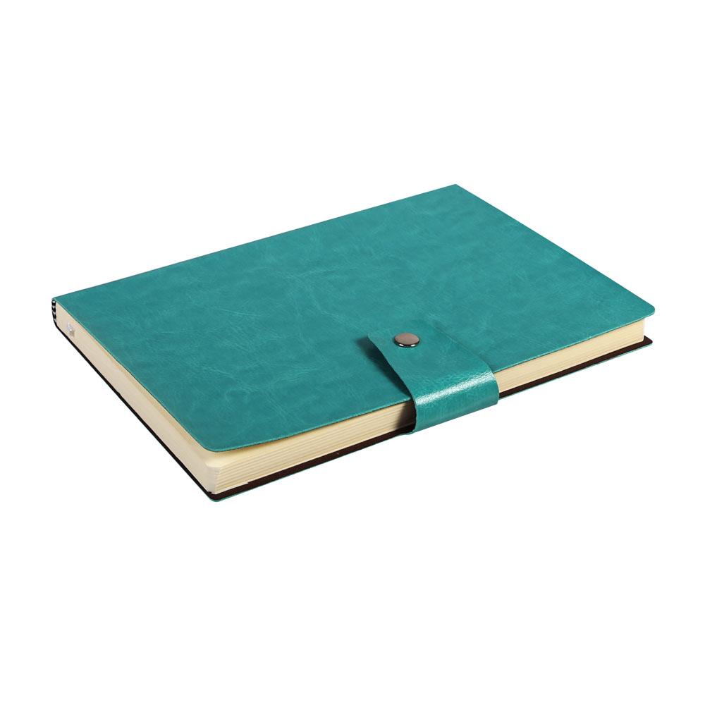 Notes Notatnik biurowy miękki w kratkę zamykany - O.NOTE Praha - 207 x 145 mm (A5) - zielony
