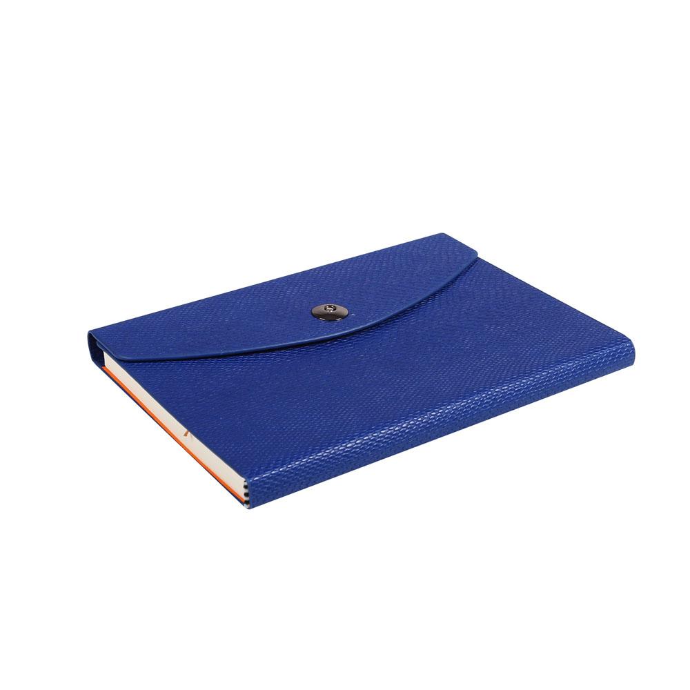 Notes Notatnik biurowy twardy w kratkę zamykany z miejscem na długopis - O.NOTE Paris - 207 x 145 mm (A5) - niebieski