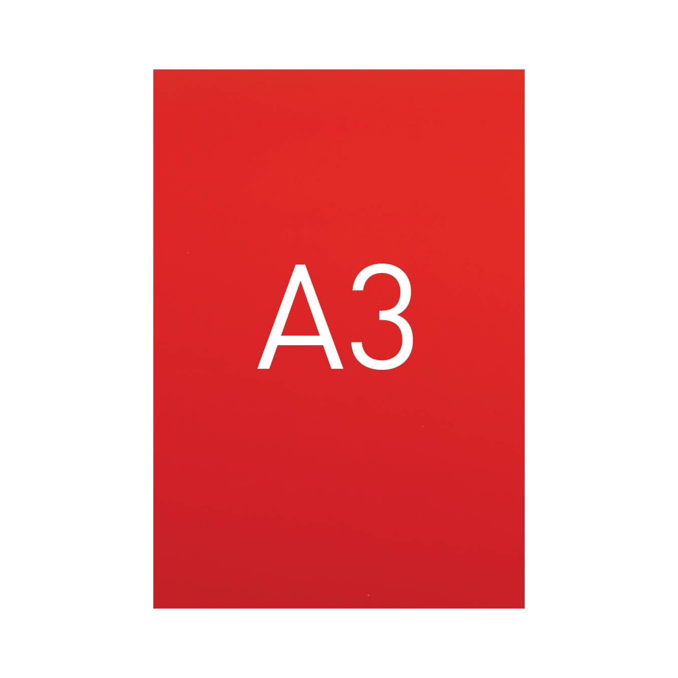 Miękka okładka kartonowa z połyskiem - O.EXCLUSIVE 420 x 297 mm (A3) - 100 arkuszy - czerwony