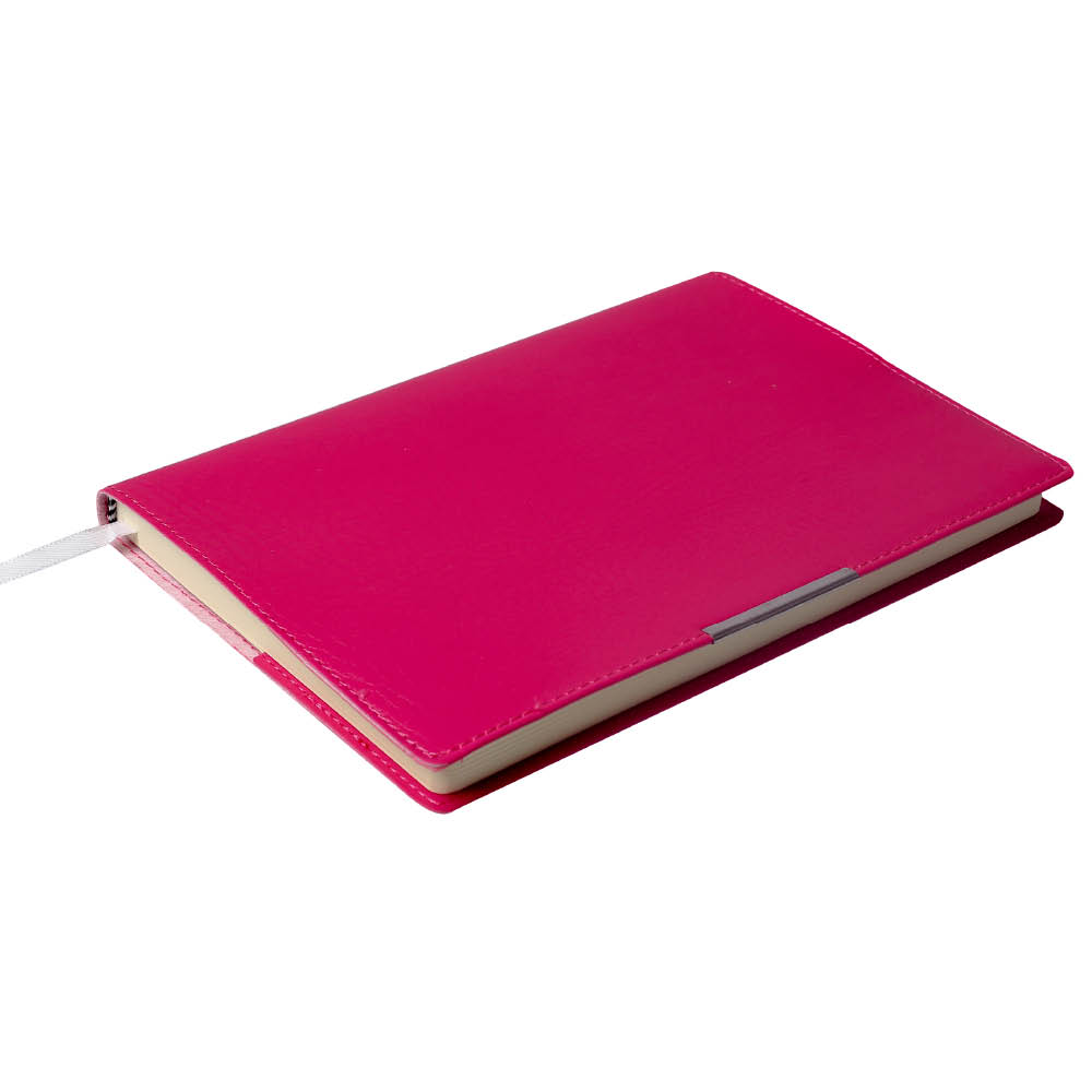 Notes Notatnik biurowy miękki w kratkę - O.NOTE Florida - 207 x 145 mm (A5) - różowy