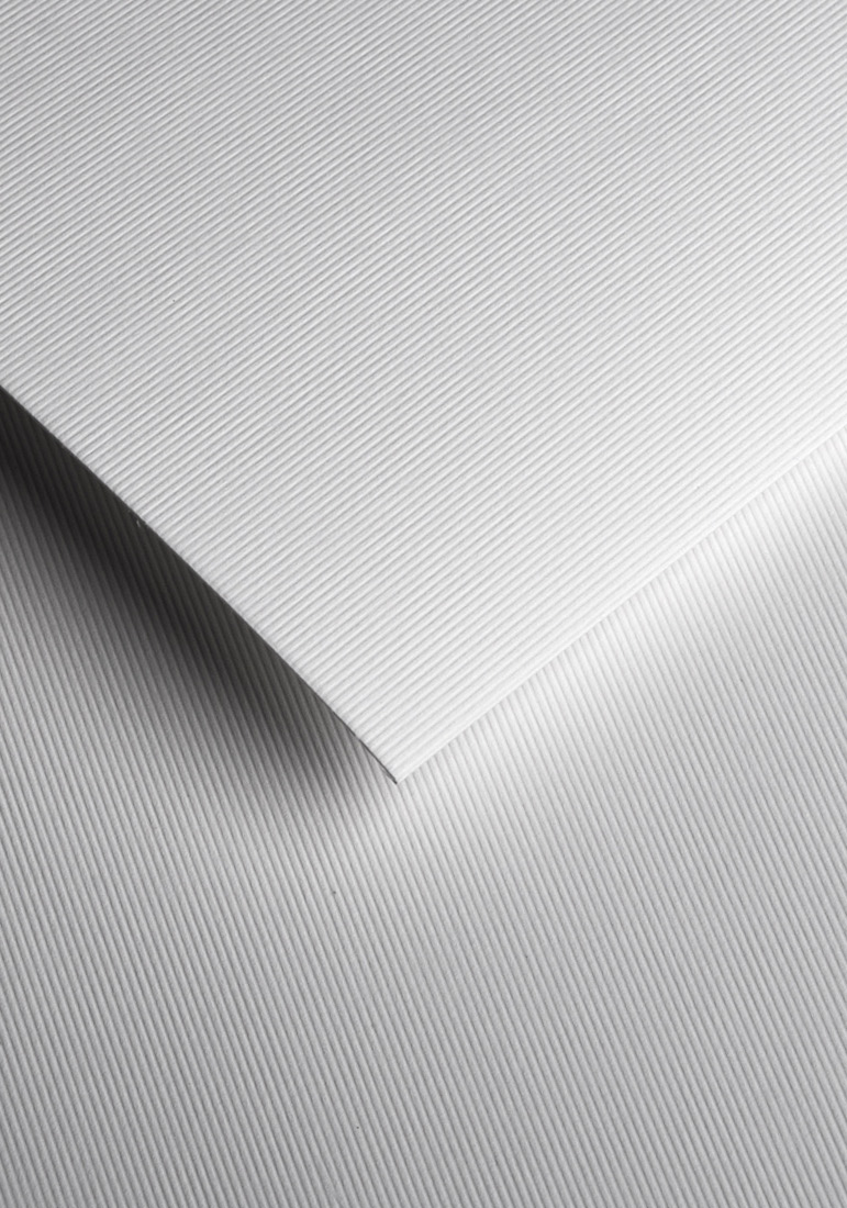 Wysokiej jakości papier ozdobny - O.Papiernia PASKI WĄSKIE - 230 g/m² - biały - 20 sztuk