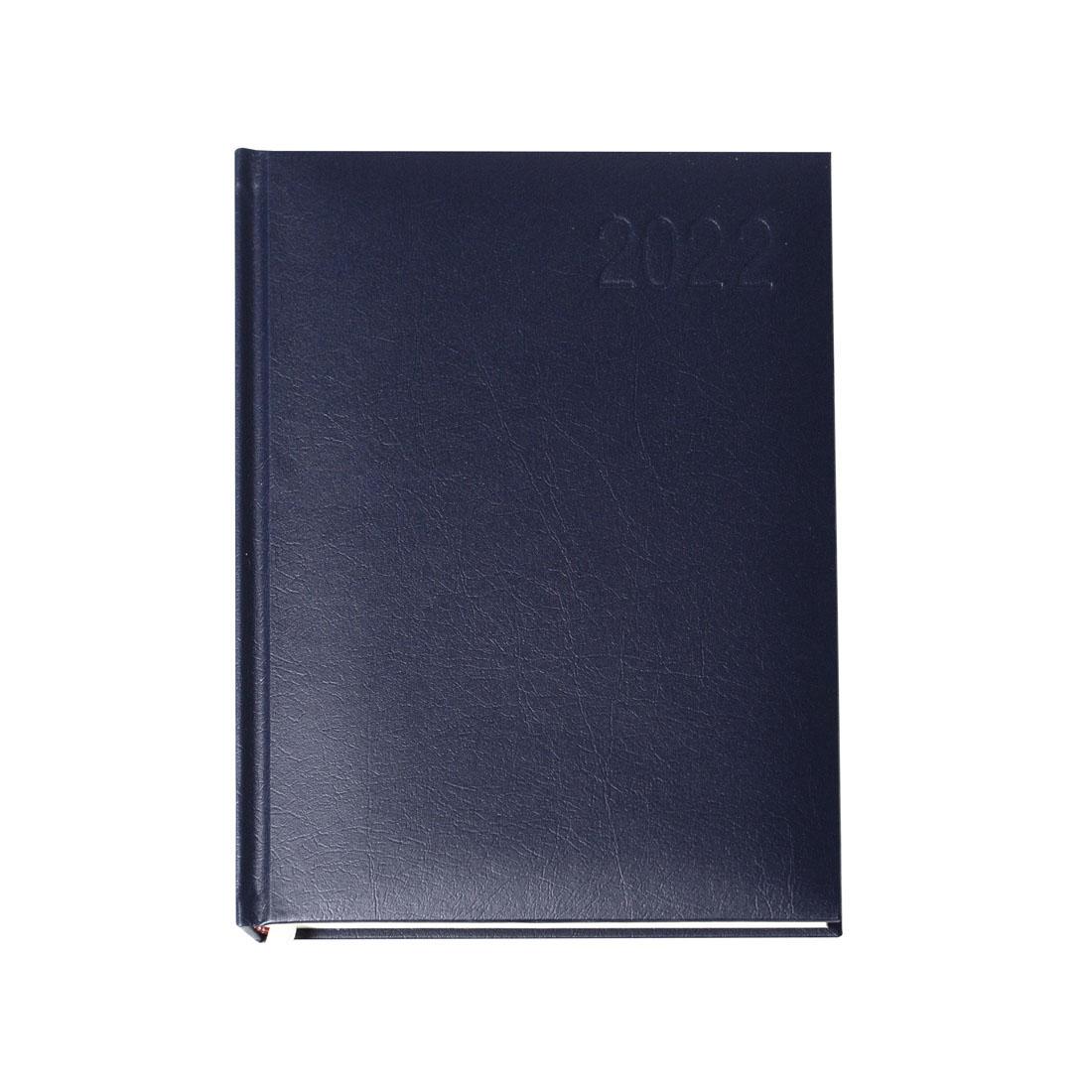 Kalendarz terminarz biurowy twardy na rok 2022 - O.DIARY Merkury - 211 x 145 mm (A5) - niebieski