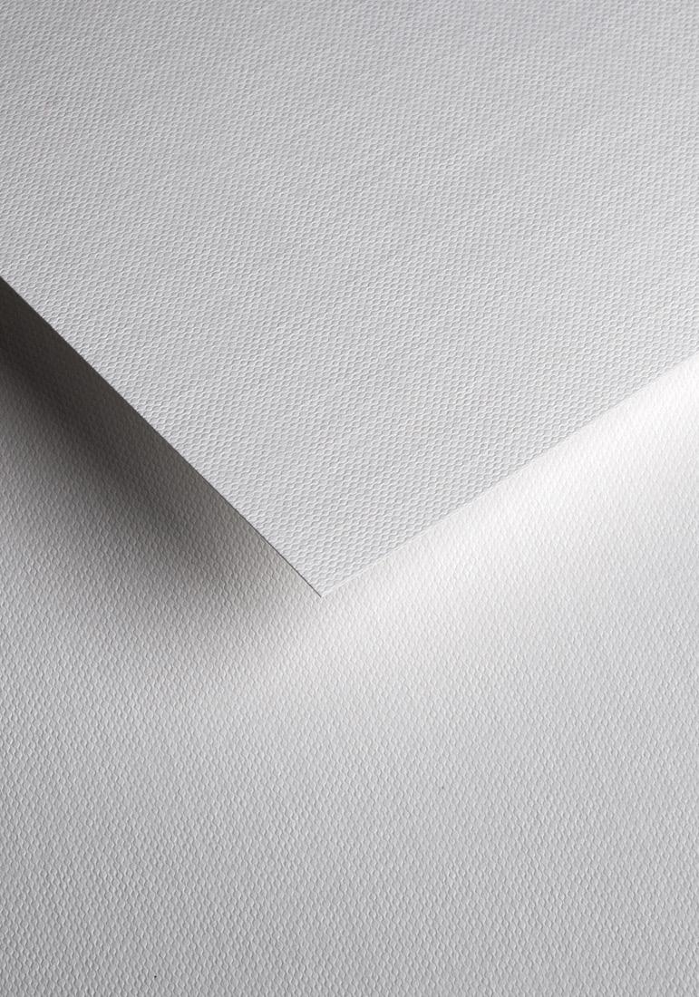 Wysokiej jakości papier ozdobny - O.Papiernia PLECIONY - 230 g/m² - biały - 20 sztuk