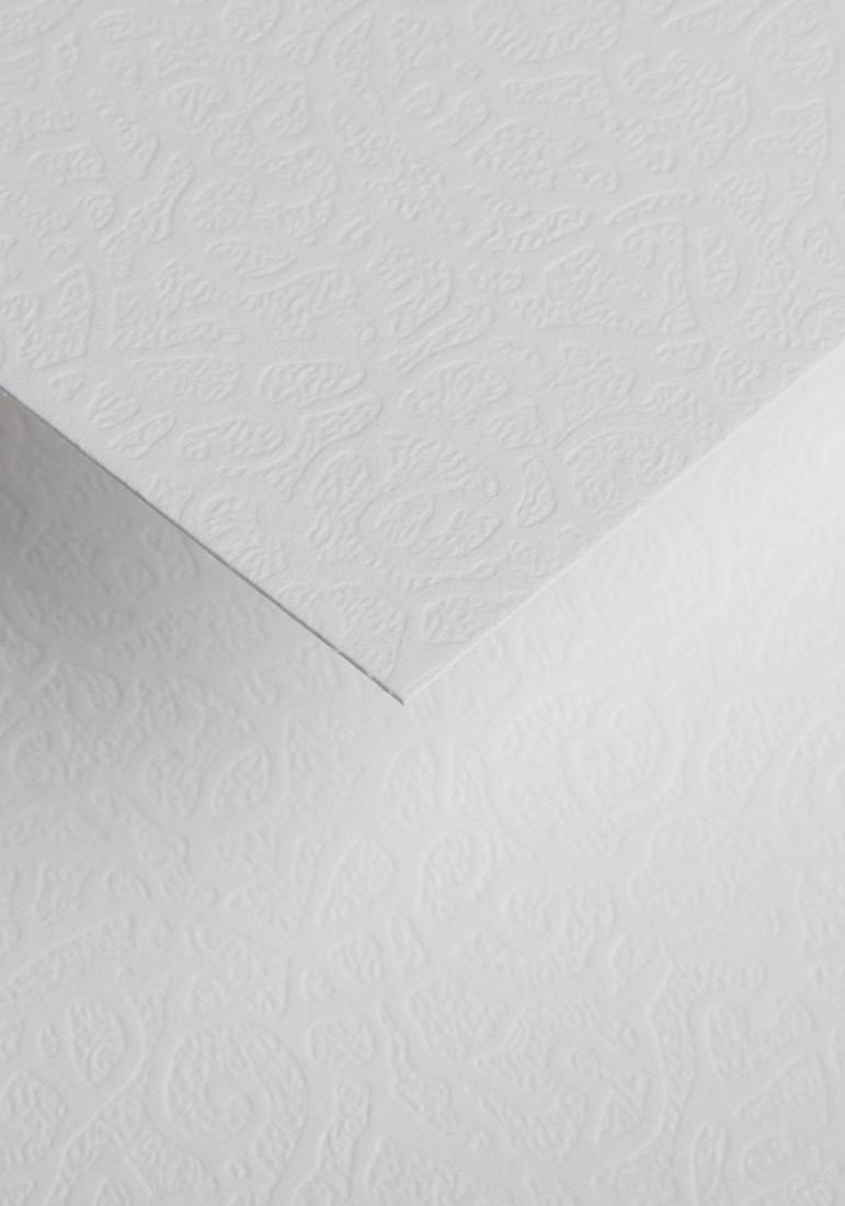 Wysokiej jakości papier ozdobny - O.Papiernia FLORA - 230 g/m² - biały - 20 sztuk
