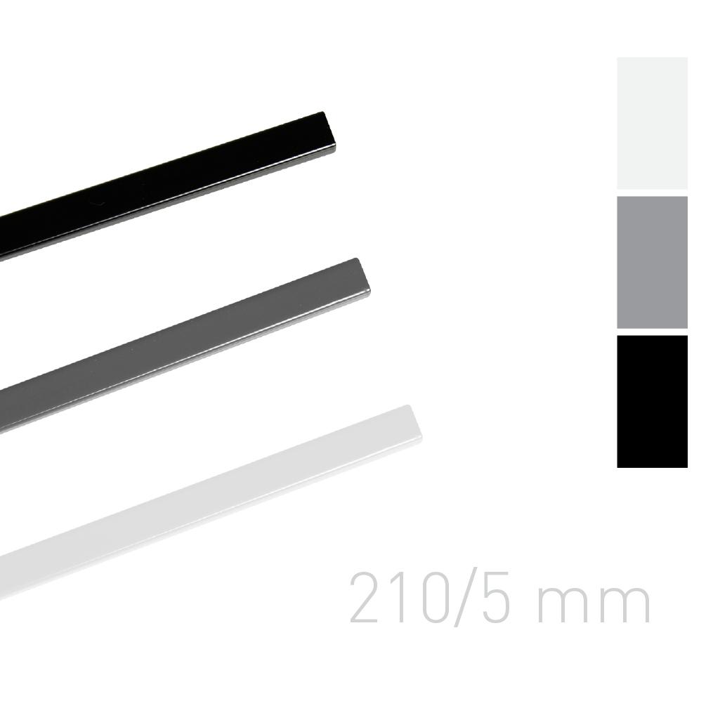 Kanał lakierowany - O.SIMPLE CHANNEL 210 mm (A4 poziomo, A5 pionowo) - 5 mm - biały - 25 sztuk