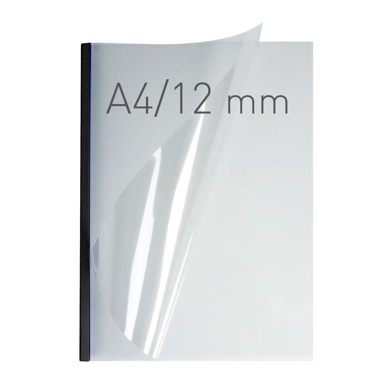 Przezroczyste termookładki miękkie - O.THERMOTOP Double Clear - (12 mm) - 297 x 210 mm (A4 pionowa) - czarny - 30 sztuk