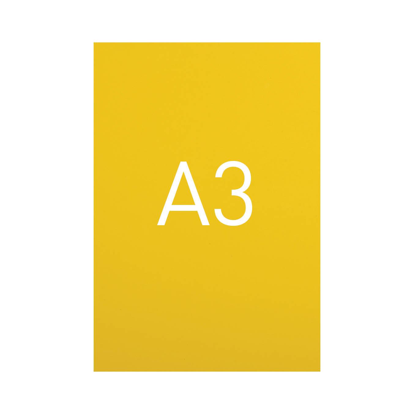 Miękka okładka kartonowa z połyskiem - O.EXCLUSIVE 420 x 297 mm (A3) - 100 arkuszy - żółty