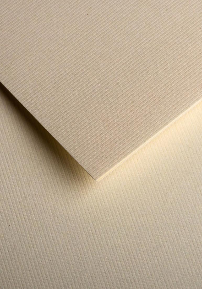 Wysokiej jakości papier ozdobny - O.Papiernia PASKI SZEROKIE - 230 g/m² - kremowy - 20 sztuk