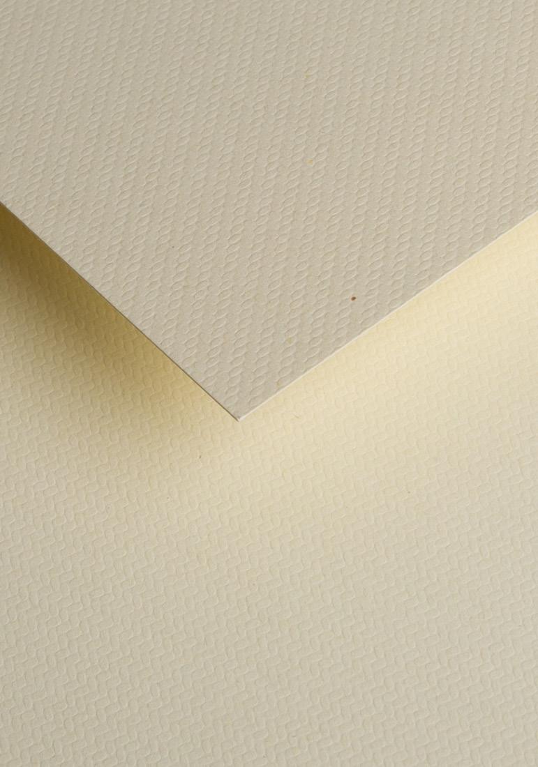 Wysokiej jakości papier ozdobny - O.Papiernia JODEŁKA - 230 g/m² - kremowy - 20 sztuk