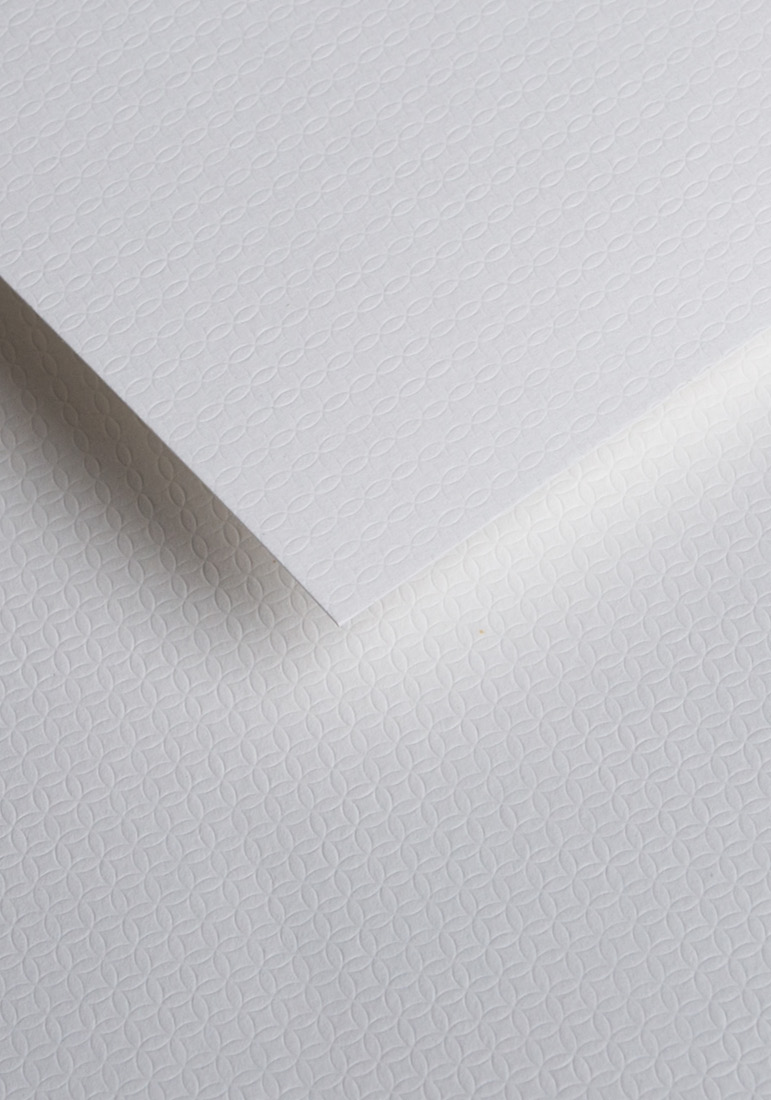 Wysokiej jakości papier ozdobny - O.Papiernia ILUZJA - 230 g/m² - biały - 20 sztuk