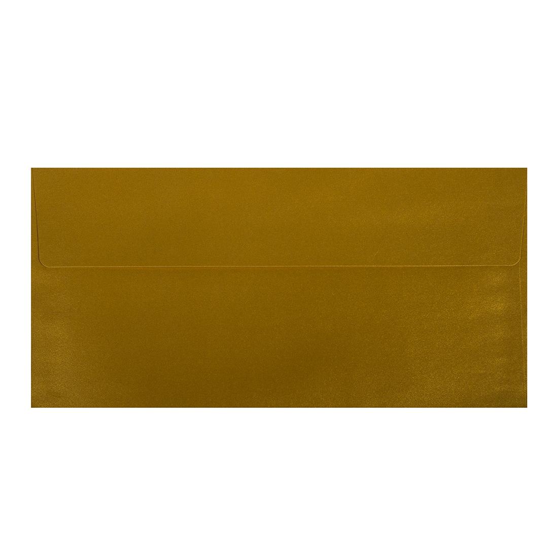 Wysokiej jakości koperty ozdobne - O.Koperta DL - PERŁA - 120 g/m² - złoty - 10 sztuk