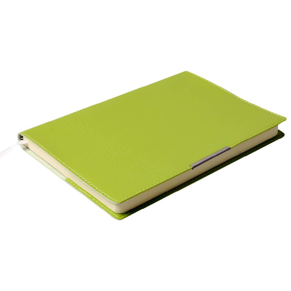 Notes Notatnik biurowy miękki w kratkę - O.NOTE Florida - 207 x 145 mm (A5) - jasnozielony
