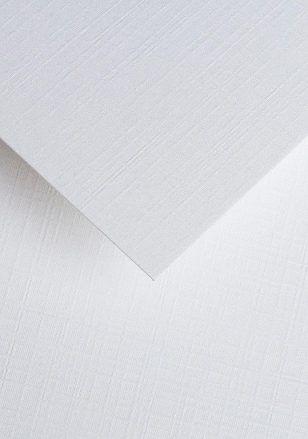 Wysokiej jakości papier ozdobny - O.Papiernia PŁÓTNO - 230 g/m² - biały - 20 sztuk