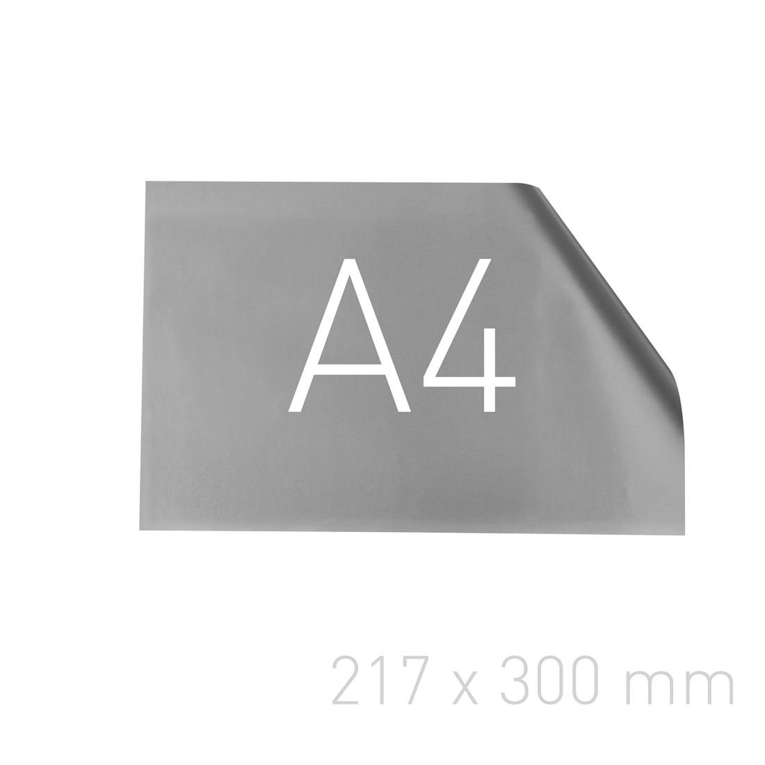 Papier posrebrzany - O.pouchCOVER PAPER 217 x 300 mm (A4 orientacja pozioma) - srebrny - 25 sztuk