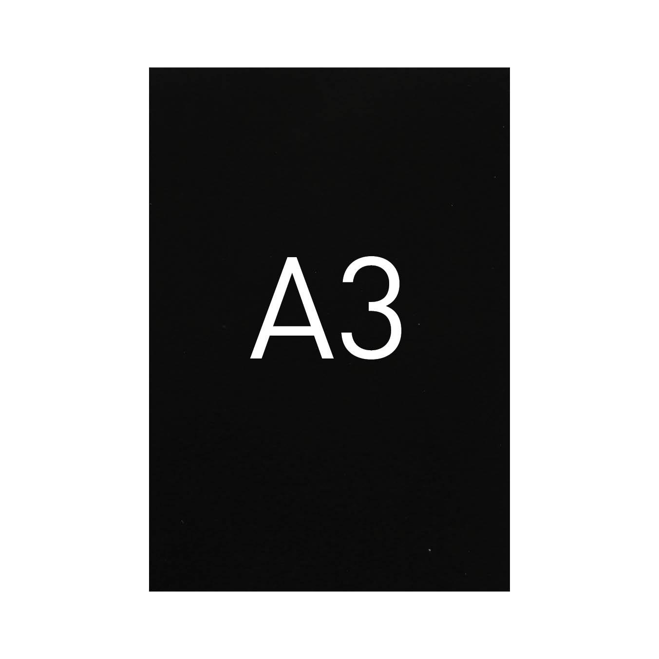Miękka okładka kartonowa z połyskiem - O.EXCLUSIVE 420 x 297 mm (A3) - 100 arkuszy - czarny